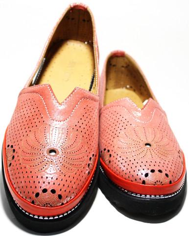 Летние кожаные туфли женские Savino