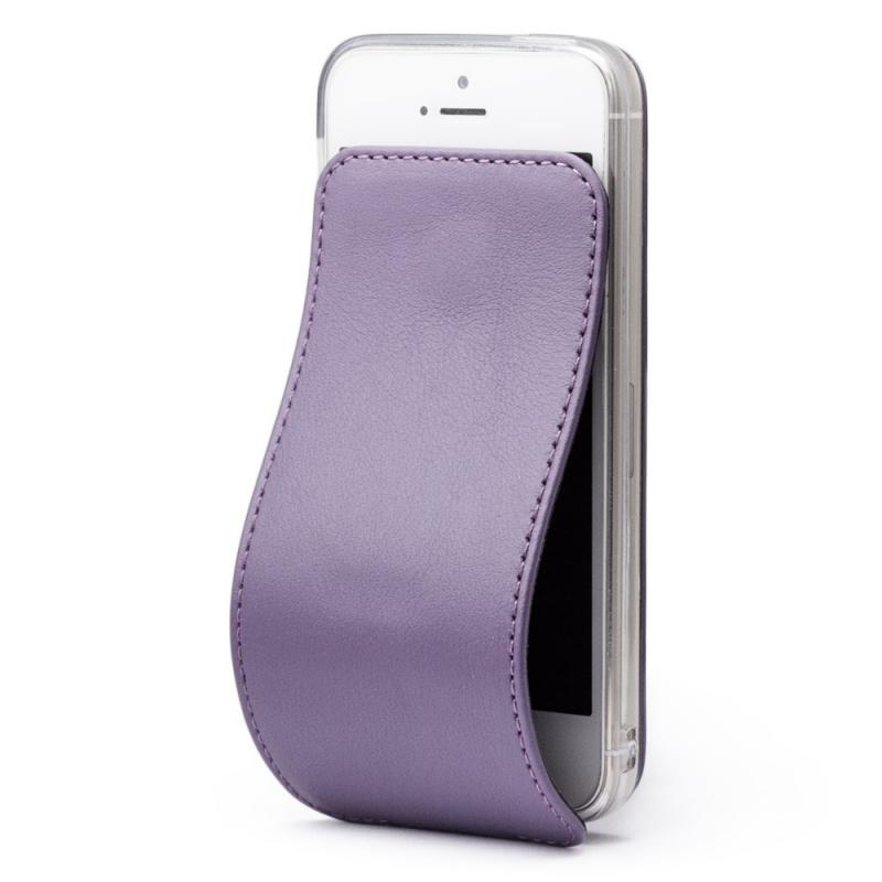 Чехол для iPhone 5S/SE из натуральной кожи теленка, фиолетового цвета