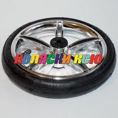 Колесо для детской коляски №006041 надув 10дюймов без вилки (металлизация) низкопрофильное