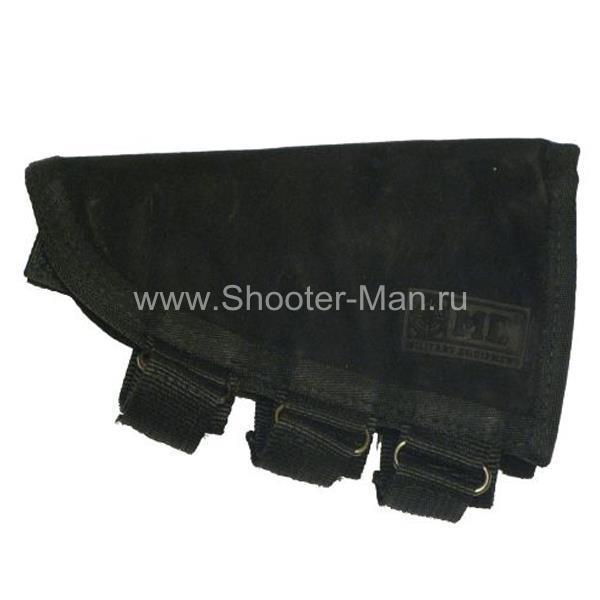 Подщечник для приклада с патронташем на 5 патронов 12 калибра