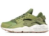 Кроссовки Женские Nike Air Huarache Premium Olive Green White