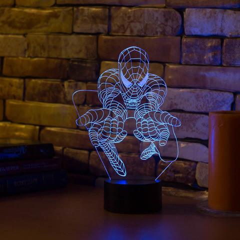 3D ночник Человек паук #3