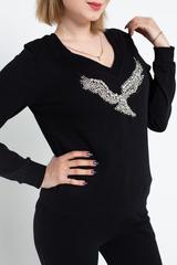 Костюм черный с свитером и брюками Nadya