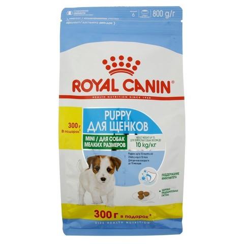 Royal Canin MINI PUPPY для щенков мелких пород 500+300 г.