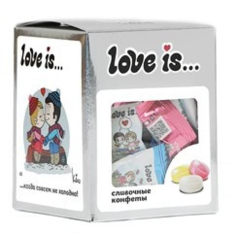 Конфеты Love is… жевательные Сливочные микс вкусов (серебро) 105 г