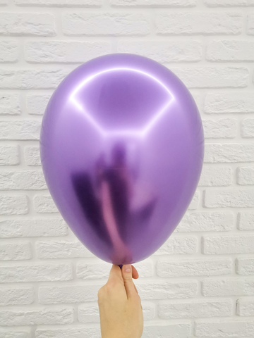 №6 Фиолетовый  Гелиевый шар Хром с обработкой