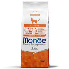 Monge Cat Monoprotein Sterilised Сухой корм для стерилизованных кошек с уткой