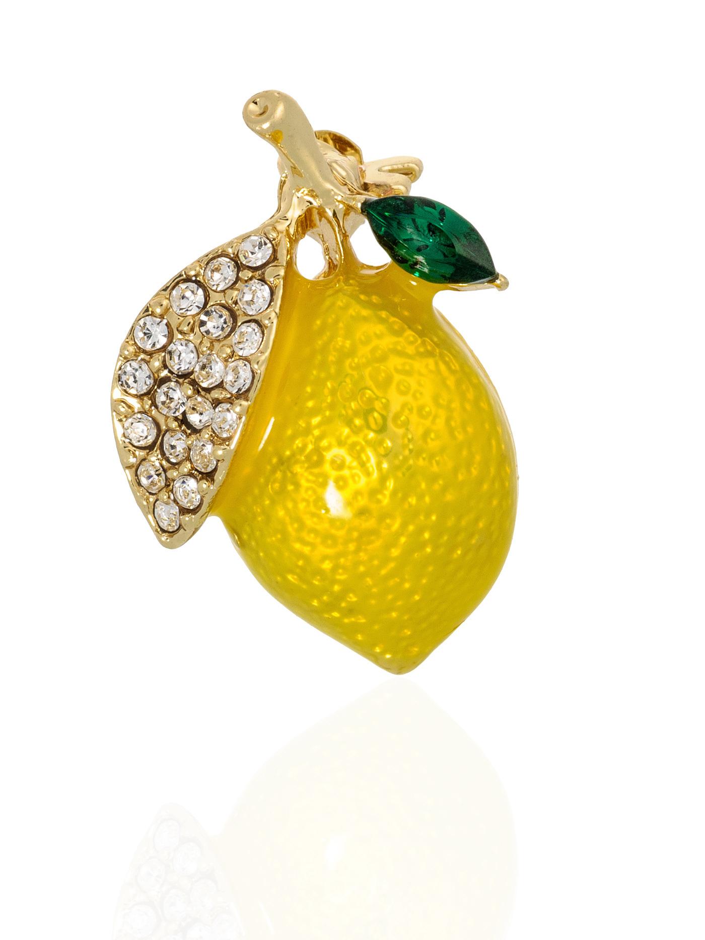 Брошь Лимон