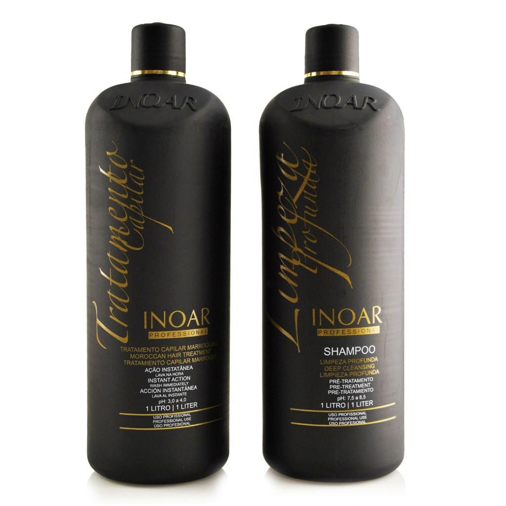 INOAR Moroccan Hair Keratin 1 л + шампунь