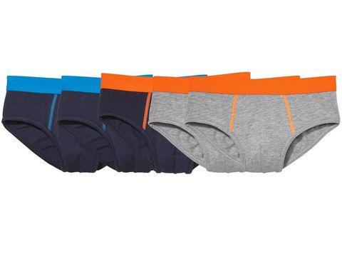 Трусы для мальчика 4 шт. (2 серых+синие с оранжевой резинкой+синих с голубой резинкой) Pepperts