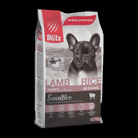 Blitz Сухой корм для щенков всех пород с ягненком и рисом