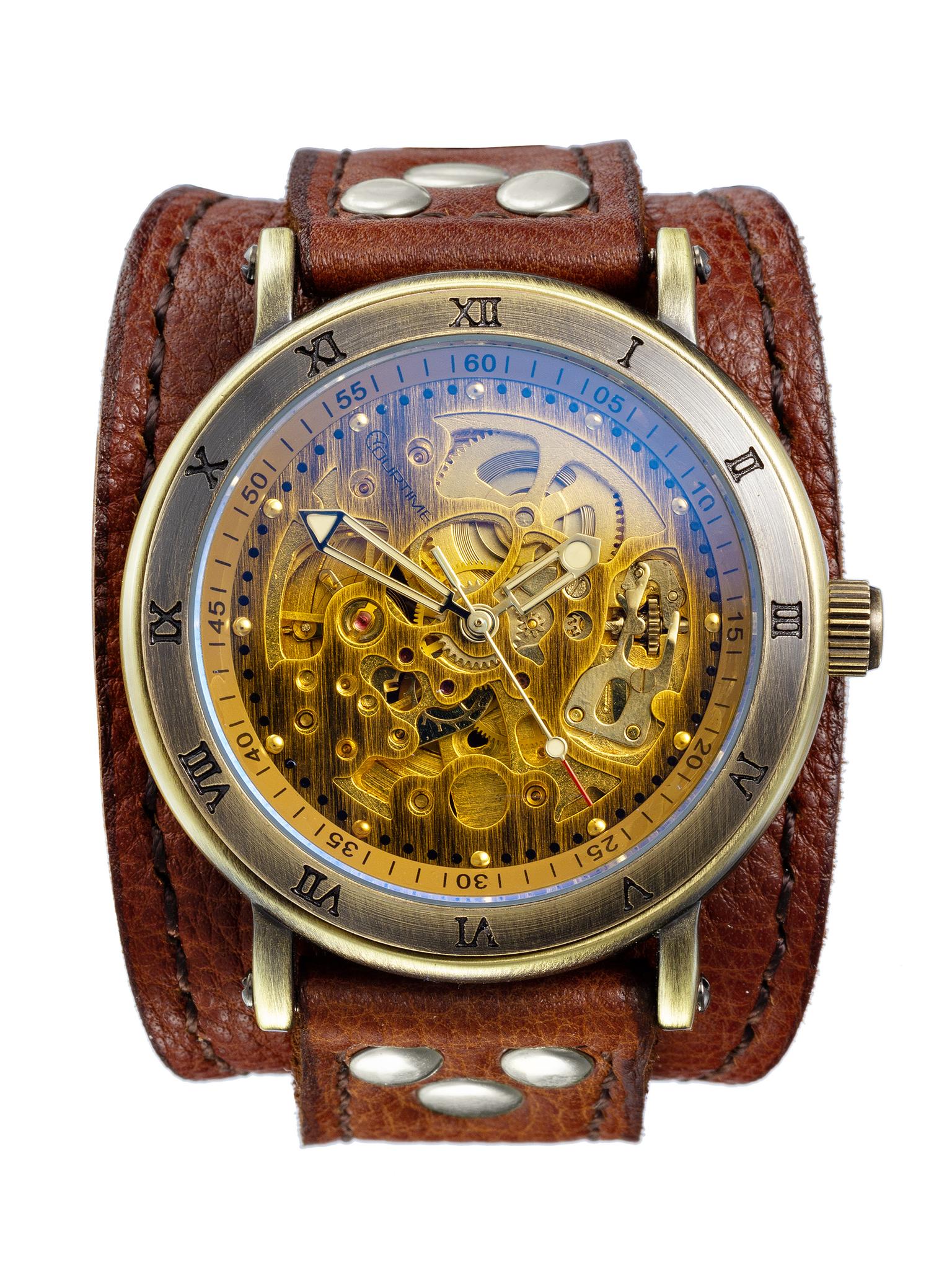 Часы скелетоны женские механические Gladiator YOURTIME