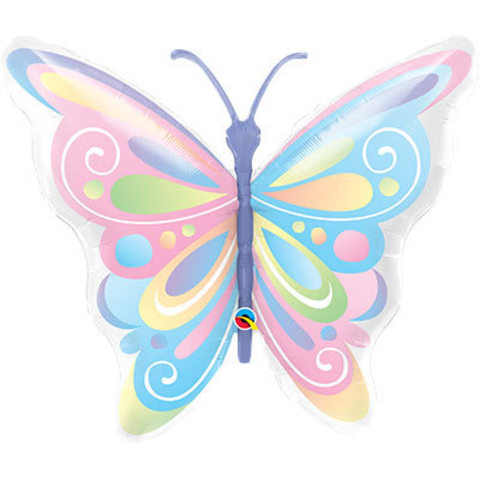 Шар фигура Бабочка пастель