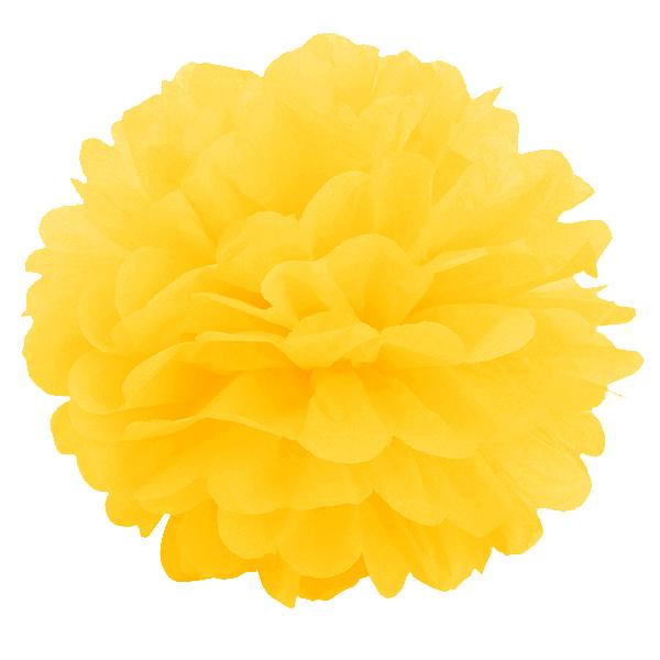 Бумажный помпон Ярко-жёлтый