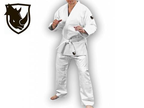 Кимоно дзюдо RHINO. Цвет белый. Размер 40-42. Рост 155.