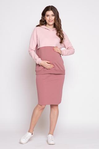 Костюм для беременных и кормящих 12406 пепельная роза