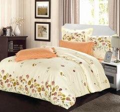Сатиновое постельное бельё  1,5 спальное Сайлид  В-158
