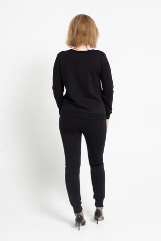 Костюм черный с свитером и брюками интернет магазин