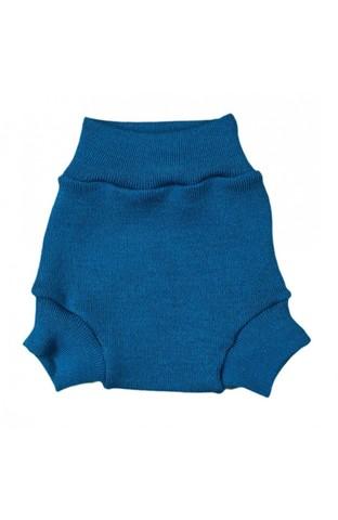 Шерстяные штанишки с усилением (Морская волна, М)