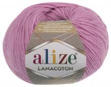 Пряжа Alize Lanacoton 98 розовый