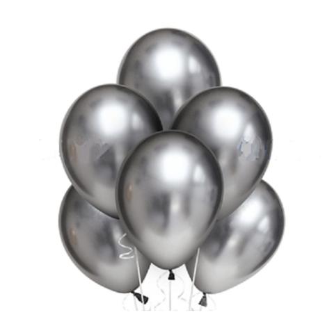 Воздушные шары хром серебряные