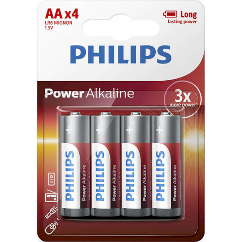 Батарейки Philips Power Alkaline LR6, AA (4/48) BL