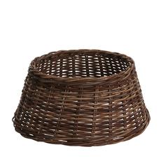 Корзина плетеная для елки коричневая