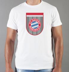 Футболка с принтом FC Bayern Munchen (ФК Бавария) белая 003