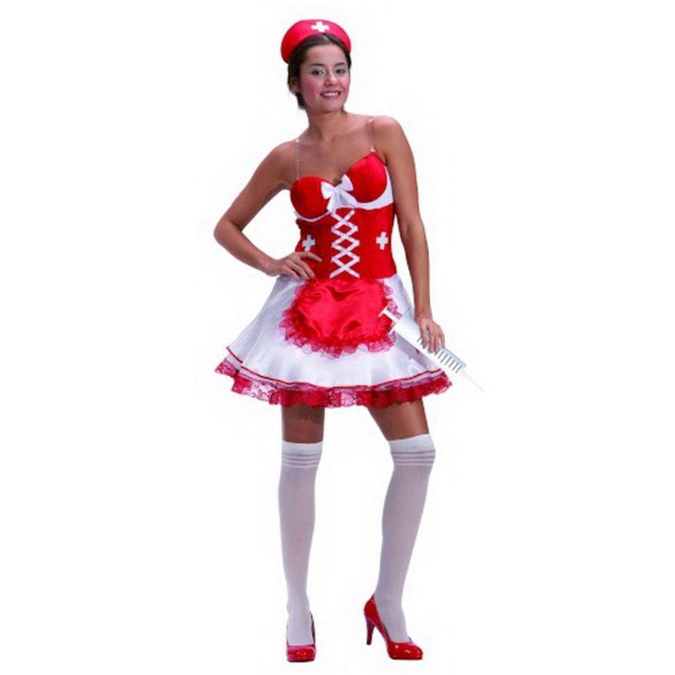Костюм взрослый  Медсестры красный