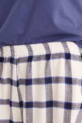 Коротка піжама «Снупі» в клітку