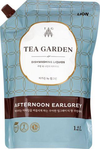 Lion Chamgreen Tea Garden Afternoon Earlgrey Средство для мытья посуды Бергамот 1,2 л в мягкой упако