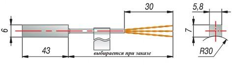 Термопреобразователь сопротивления ДТС224-50М.В3.43/1,5 Овен