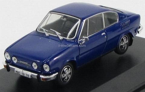 Skoda 110R Coupe 1978 Sapphire blue Abrex 1:43