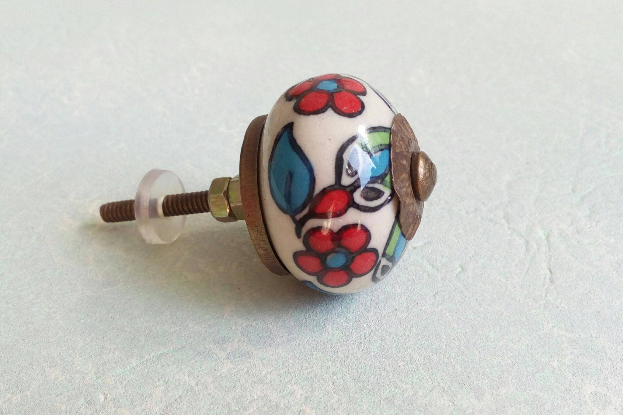 Ручка мебельная керамическая  расписная √36