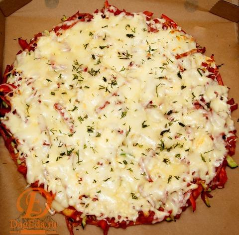 Домашняя пицца с курицей