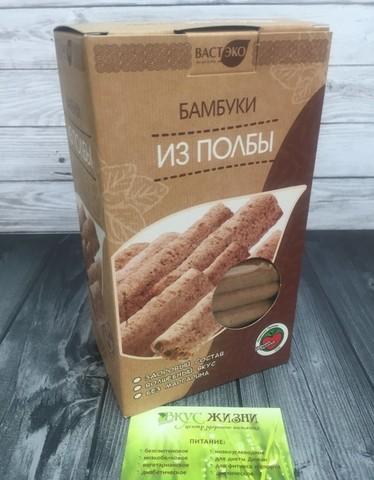 Бамбуки из полбы с шоколадом 200г Вастэко