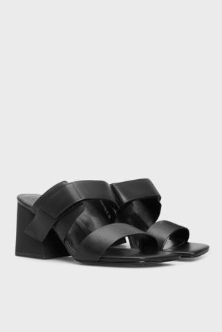 Женские черные кожаные мюли Leonor PRPY