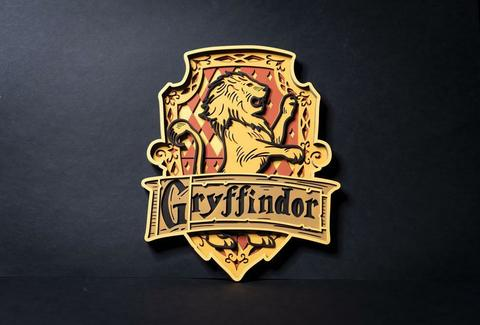 Гриффиндор от SamCraft - сборные объемные картины из дерева своими руками, покрась, собери и склей