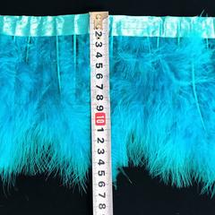 Купить оптом перья Марабу на ленте Capri Blue синие в интернете