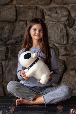 Мягкая игрушка-подушка Gekoko «Белый Бим Черный Глаз» 4