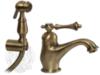 Смеситель для раковины с гигиенической лейкой Migliore Bomond ML.BMD-9714 бронза