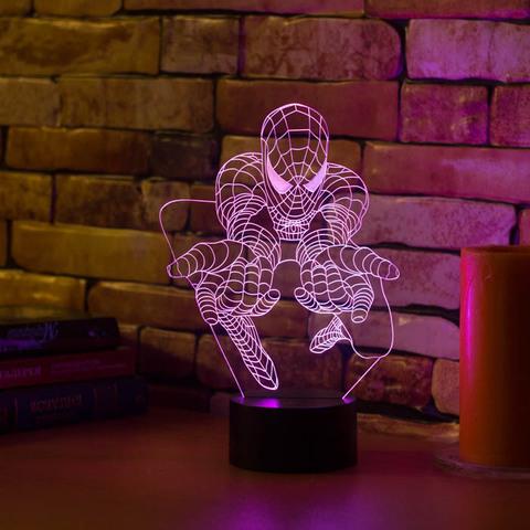 3D лампа Человек паук #3