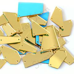 Пришивные зеркала купить в наборе золотые Light Gold