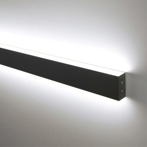 Линейный светодиодный накладной двусторонний светильник 53см 20Вт 6500К черная шагрень 101-100-40-53