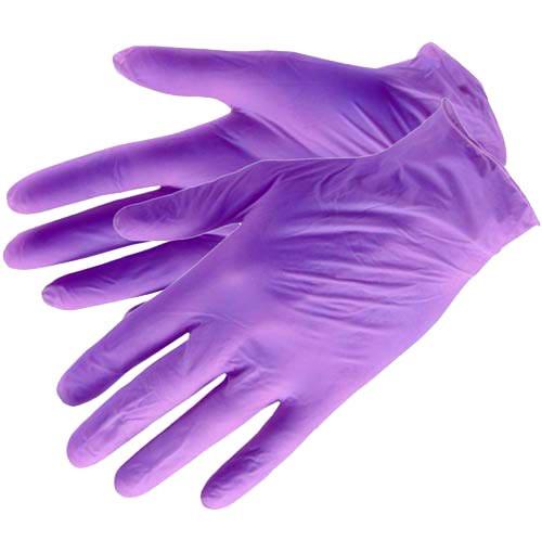 Перчатки EleGreen, Перчатки нитриловые неопудренные (сиреневые), размер XS, 100 шт 1347.jpg
