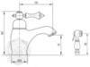 Смеситель для раковины с гигиенической лейкой Migliore Bomond ML.BMD-9714 схема