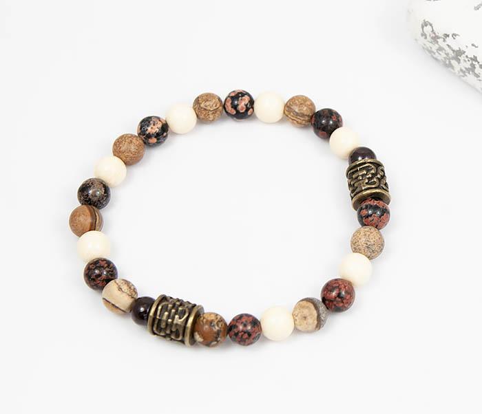 BS784 Мужской браслет из натуральных камней фото 02