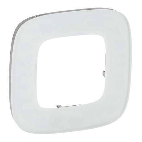 Рамка на 1 пост. Цвет Белое стекло. Legrand Valena Allure (Легранд Валена Аллюр). 755541