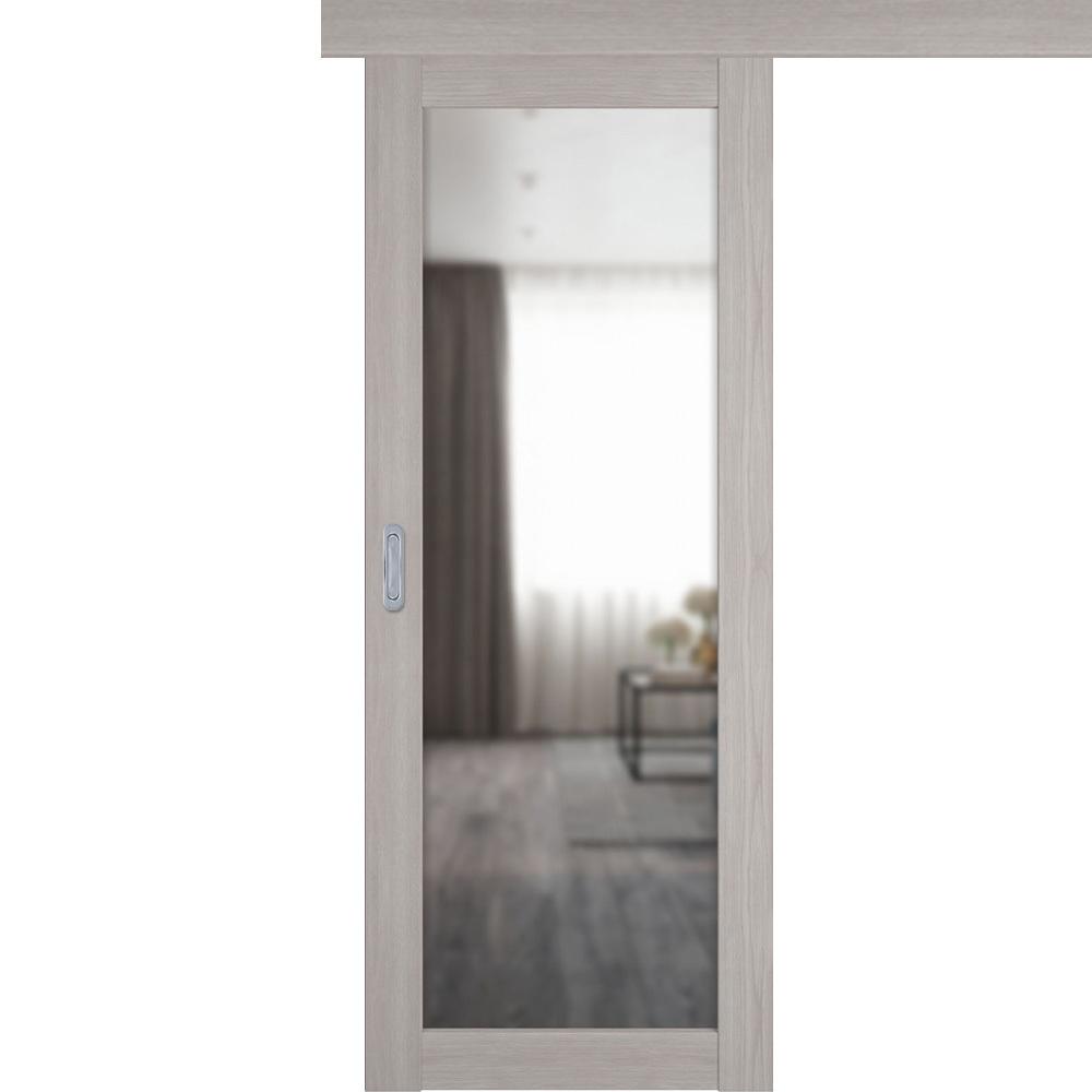 Двери с зеркалом Одностворчатая дверь купе 32Х stone oak с зеркалом с одной стороны atum-pro-x32-stone-mirror.jpg