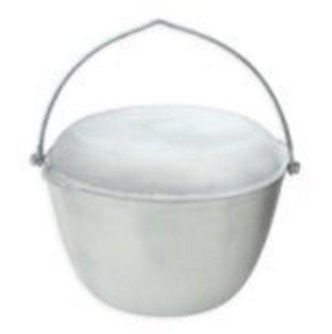 Котел алюминиевый литой 6л с крышкой-сковородкой